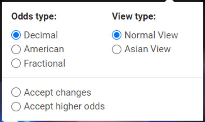 Cbet, i diversi tipi di quote e vista asiatica