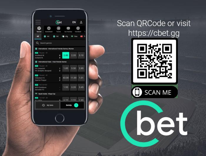 Cbet sito mobile - scarica l'app per sistemi Android e iOS - usa il qrcode